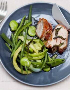 Filet mignon au parme, legumes croquants pour 6 ...