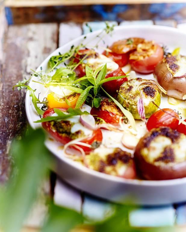 Légumes farcis mozzarella parmesan pour 6 personnes