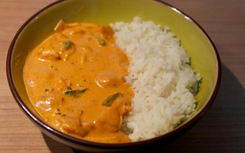 Recette poulet coco curry rouge simple > cuisine étudiant