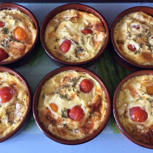Recette clafoutis au camembert et tomates cerises