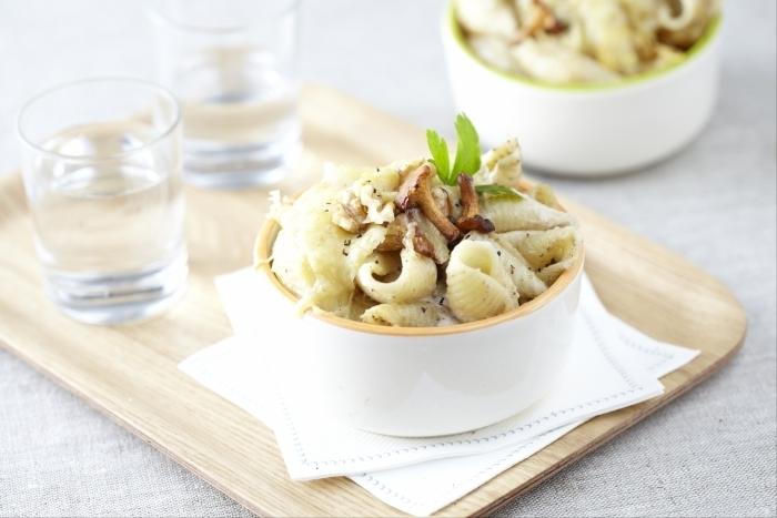 Recette de gratin de pâtes aux champignons facile et rapide