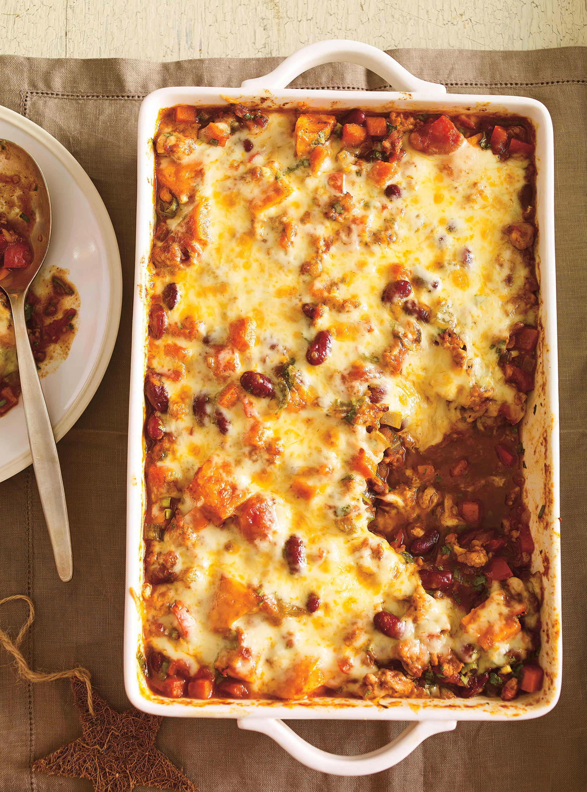 Chili de dinde et de légumes gratiné | ricardo