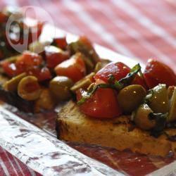 Recette bruschetta aux olives et aux tomates cerise – toutes les ...