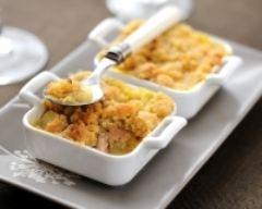 Recette crumble de foie gras aux pommes