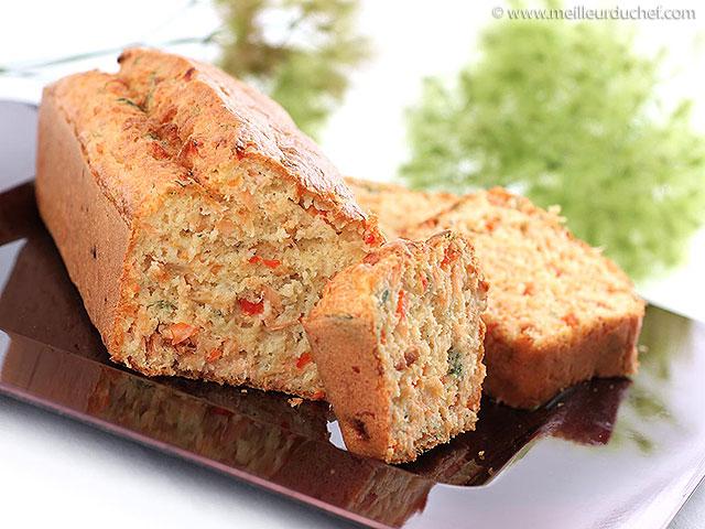 Cake au saumon  fiche recette illustrée  meilleurduchef.com