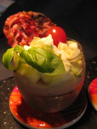 Verrines glacées à la tomate