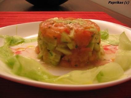 Recette de tartare de tomate-concombre au cumin