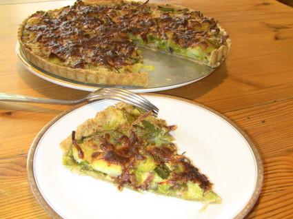 Recette tarte aux poireaux et lardons (tarte salée)