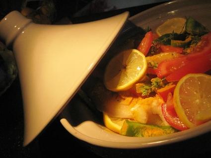 Recette de tajine de poisson et crevettes