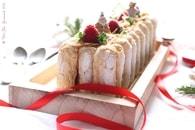 Recette de bûche pâtissière au chocolat blanc et insert framboises