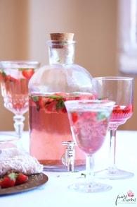 Recette de thé glacé fraises et menthe