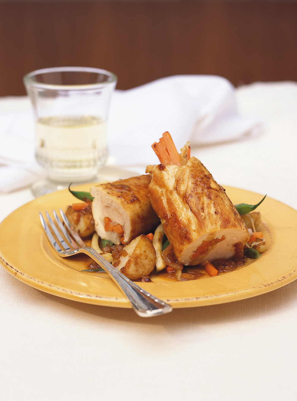 Roulades de poulet aux légumes d'automne | ricardo