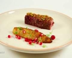 Recette magret de canard rôti, sablage d'arachide, ananas rôti aux ...