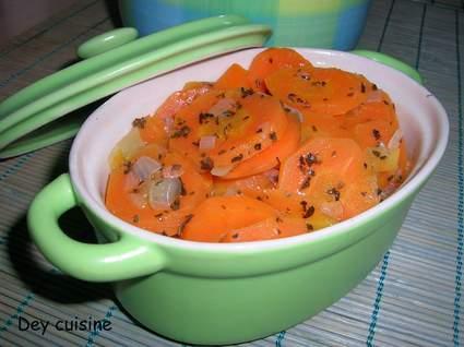 Recette de carottes étuvées à l'ail et au basilic
