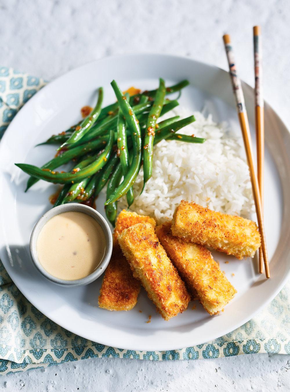 Tofu croustillant et haricots verts | ricardo