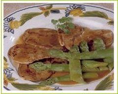Recette escalopes de veau aux pointes d'asperges