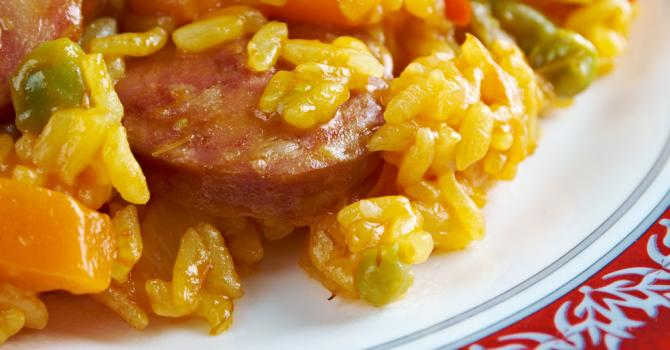 Recette de risotto aux 2 chorizos et à la tomate séchée
