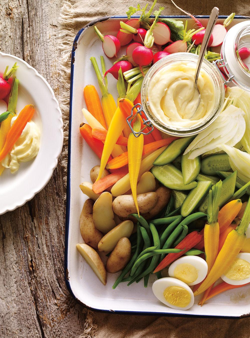 Plateau de légumes et aïoli | ricardo