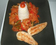 Poulet basquaise et son riz | cuisine az