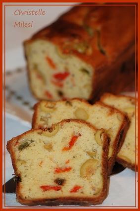 Recette de cake aux poivrons et aux olives