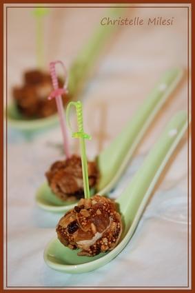 Recette de truffes aux foie gras et fruits secs