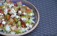 Recette de salade aux tomates anciennes à la féta