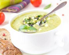 Recette soupe de concombre froide à la menthe et yaourt