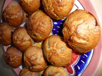 Muffins banane, caramel et cannelle
