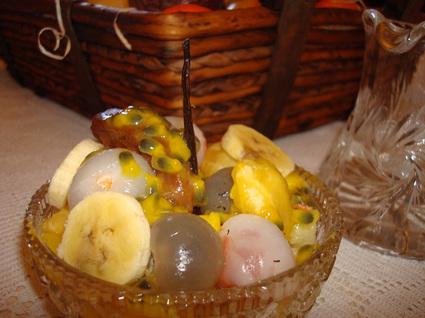 Recette de salade de fruits exotiques