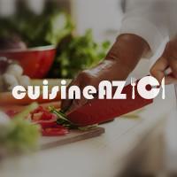 Recette aumônières d'aubergines confites et sa sauce au persil