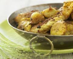 Recette curry de poulet à la banane et aux oignons