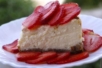 Recette de cheesecake aux fraises, fromage blanc et mascarpone ...