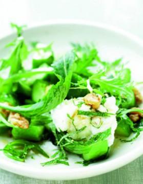 Concombre au wok et chevre en salade pour 4 ...