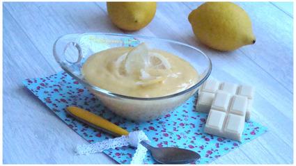 Recette de crème au citron et chocolat blanc