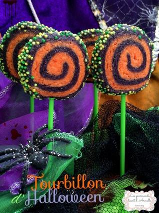 Recette de sucettes biscuits tourbillon d'halloween