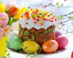 Recette koulitch de pâques ou gâteau brioché russe aux fruits confits