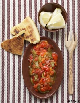 Salade de poivrons grillés pour 6 personnes