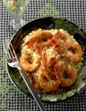 Léger : couscous de crevettes pour 6 personnes
