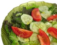 Recette salade de laitue, concombres et tomates