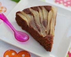 Recette gâteau renversé aux poires et au chocolat