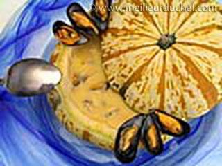 Soupe de potiron aux moules  notre recette avec photos ...