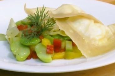 Recette de raviole de chèvre frais, riviera de légumes niçois facile ...