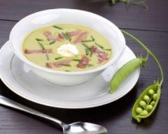 Recette soupe de légumes verts et dés de jambon blanc