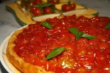Recette tatin de tomates cerises (tartare)