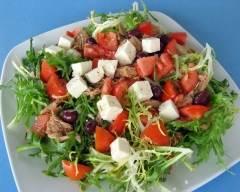 Recette salade de tomates et chicorée au thon