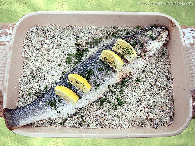 Bar en croûte de sel aux algues  recette de cuisine illustrée ...