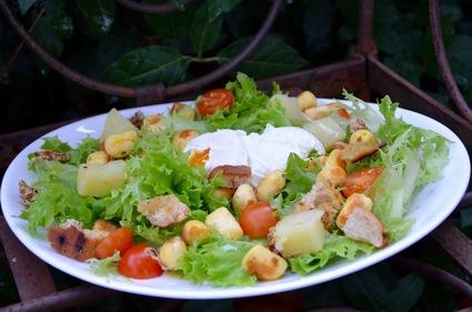 Recette de salade lyonnaise végétarienne