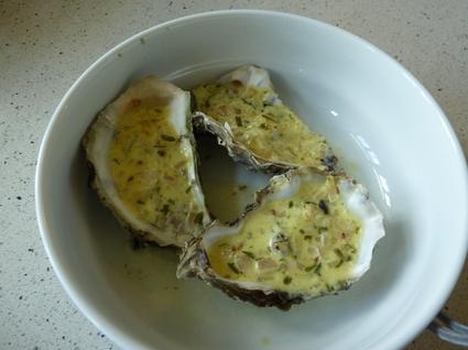Recette de huîtres chaudes