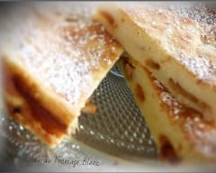 Recette gâteau au fromage blanc pommes et raisin caramélisés ...