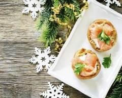 Recette choux farcis à la crème de roquefort et au saumon fumé